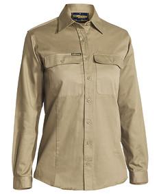 Womens Drill Shirt - Long Sleeve