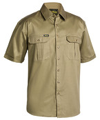 Original Cotton Mens Drill Shirt - Short Sleeve