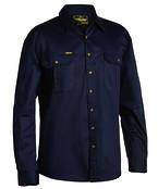 Original Cotton Mens Drill Shirt - Long Sleeve